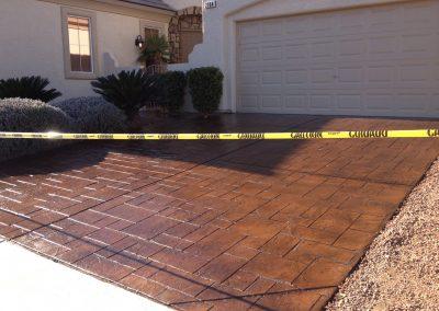 pattern concrete driveway