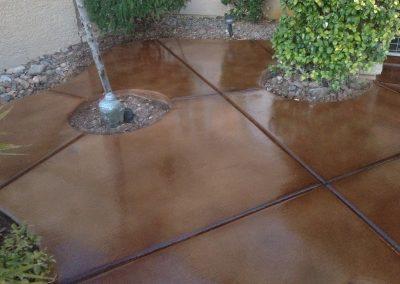 gloss square patio concrete