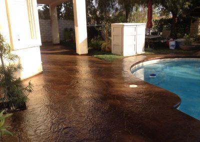 Pool deck backyard