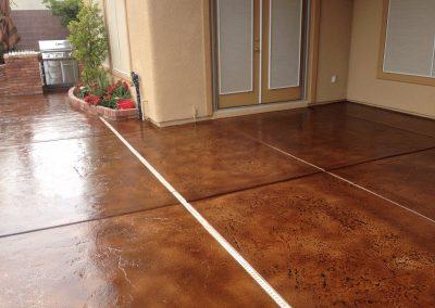 glossy back porch concrete