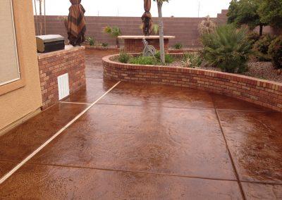 backyard concrete pad