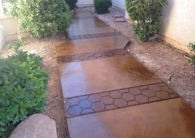 walkway concrete design