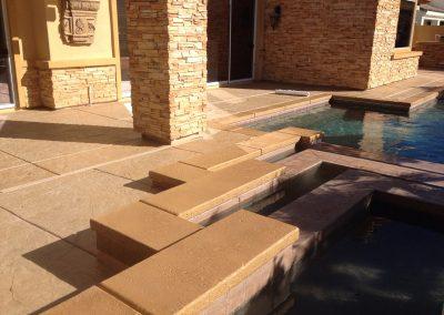 Layered pool decking 3