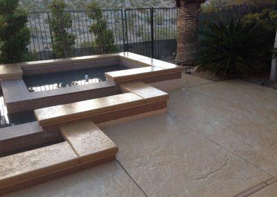 Layered pool decking 2
