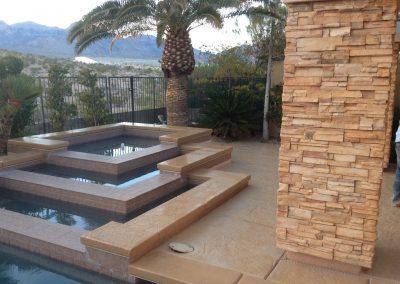 Layered pool decking