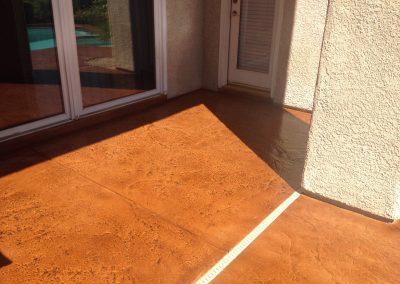 back porch concrete