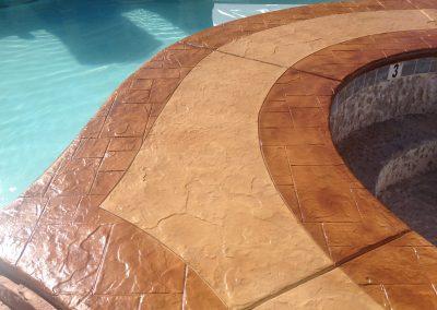 Apartments pool deck close up