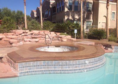 Apartments pool deck 3