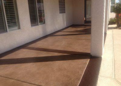 brown concrete porch