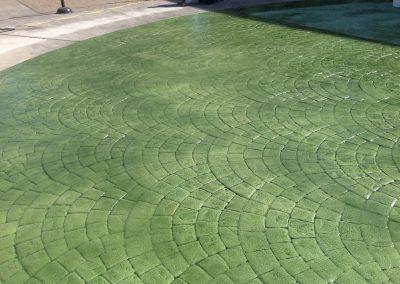 green concrete art design