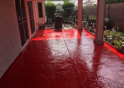 red patio concrete