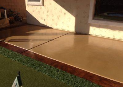 tan patio concrete