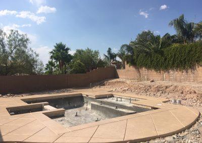 concrete pool decking under construction