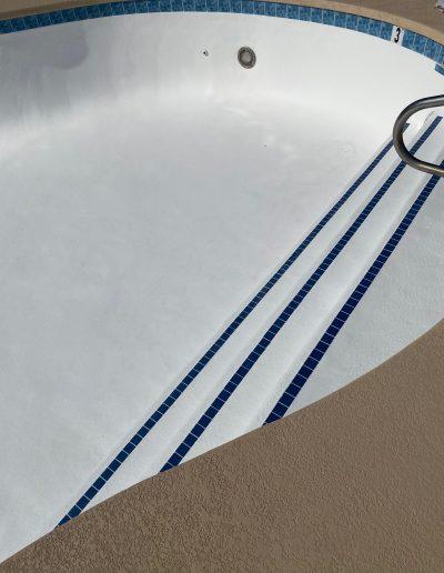 cleaned pool floor